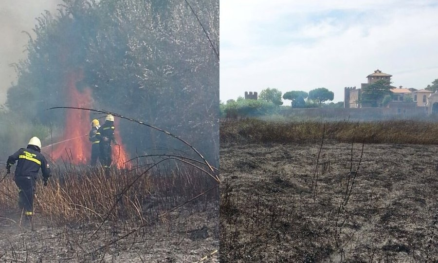 Incendio domato da Protezione Civile