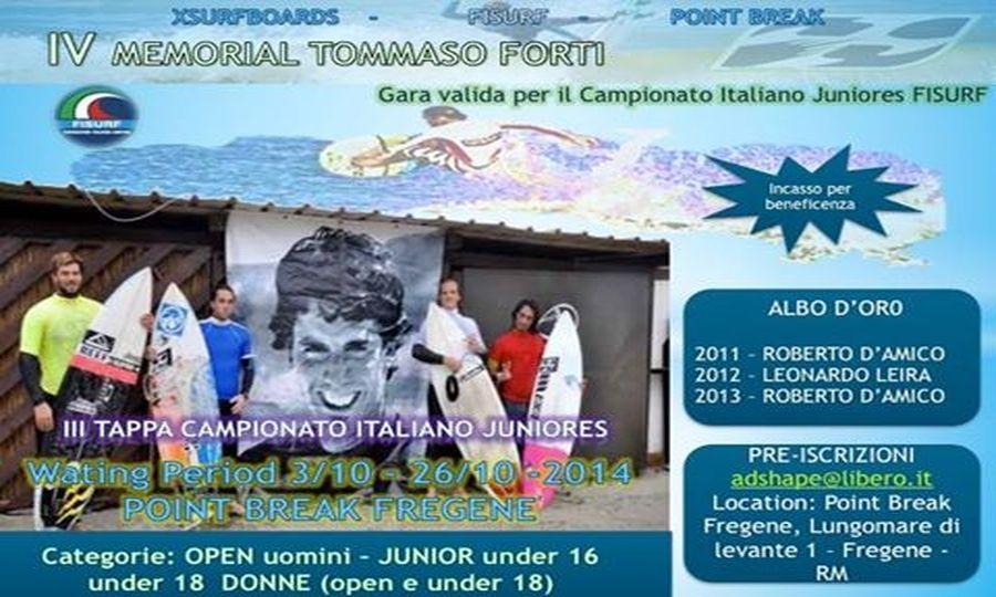 Memorial Tommaso Forti, IV edizione