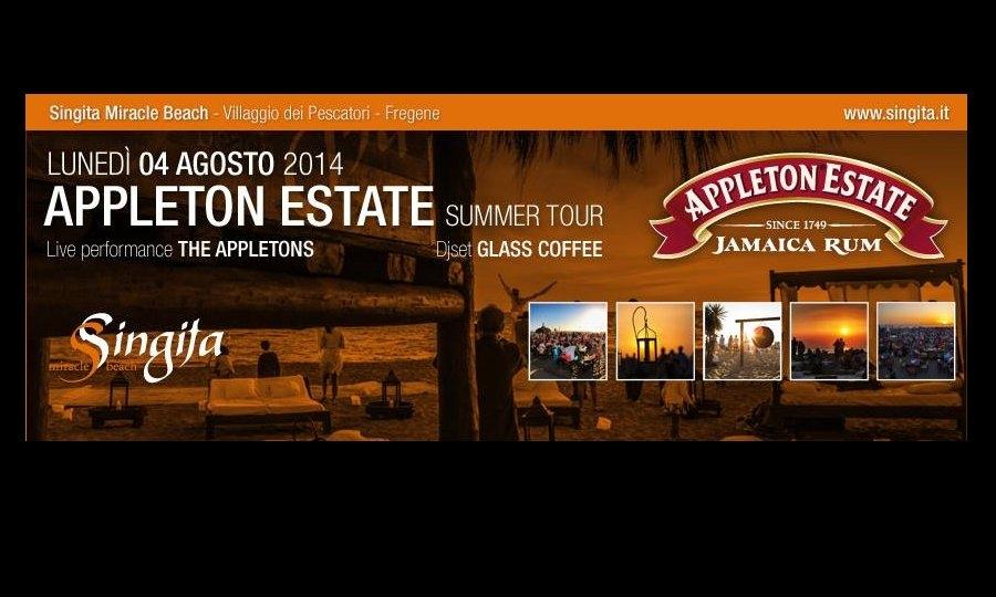 "Stasera ""Appleton Estate"" al Singita"