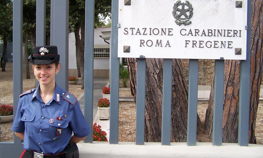 La Carabiniera Braccini arresta uomo a Ostia