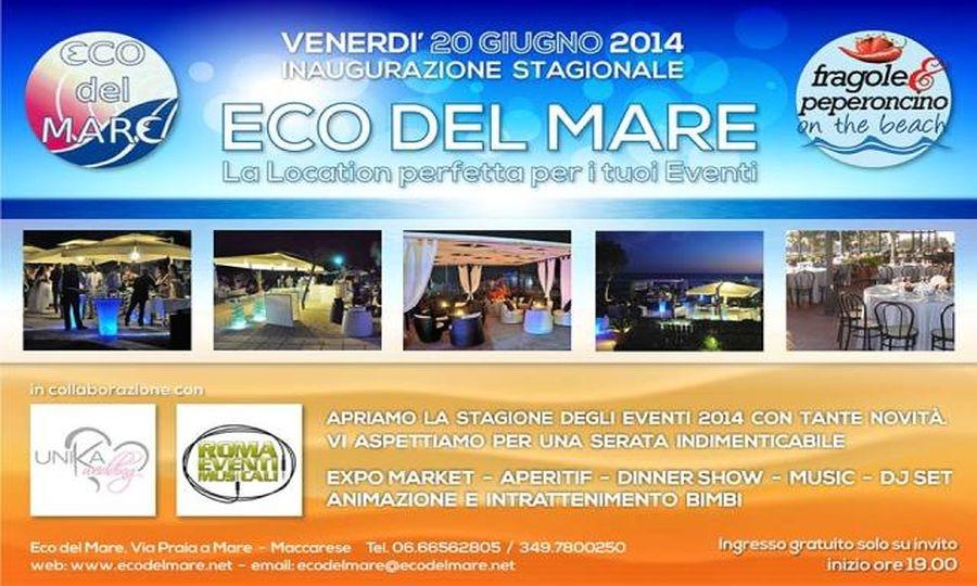 """""""Eco del Mare"""", questa sera inaugurazione"""