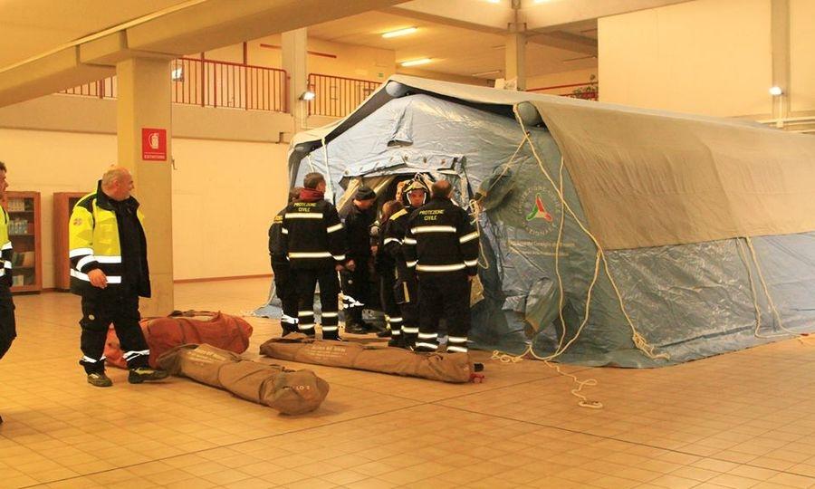Protezione civile Fregene, corso per colonna mobile