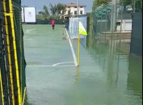 Atletico pioggia