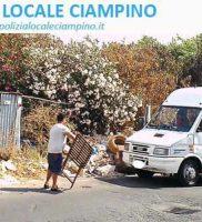 Furbetti immondizia Ciampino 2 (foto Polizia Locale Ciampino)