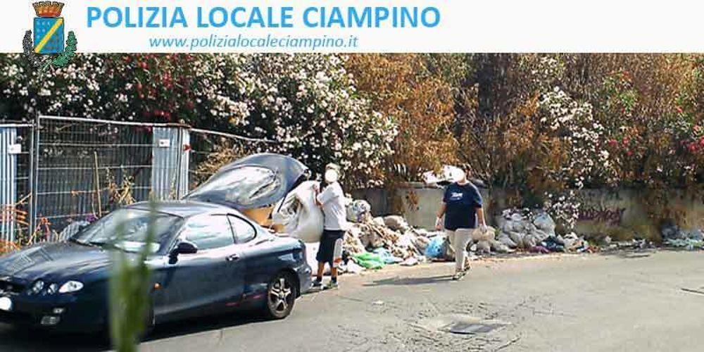 Furbetti immondizia Ciampino 3 (foto Polizia Locale Ciampino)