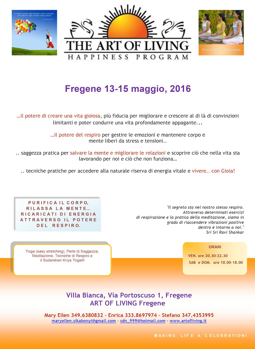 Happiness Program NEW  13-15 maggio 2016