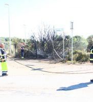 Incendio protezione civile macchia