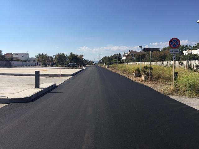 Lungomare nuovo asfaltok