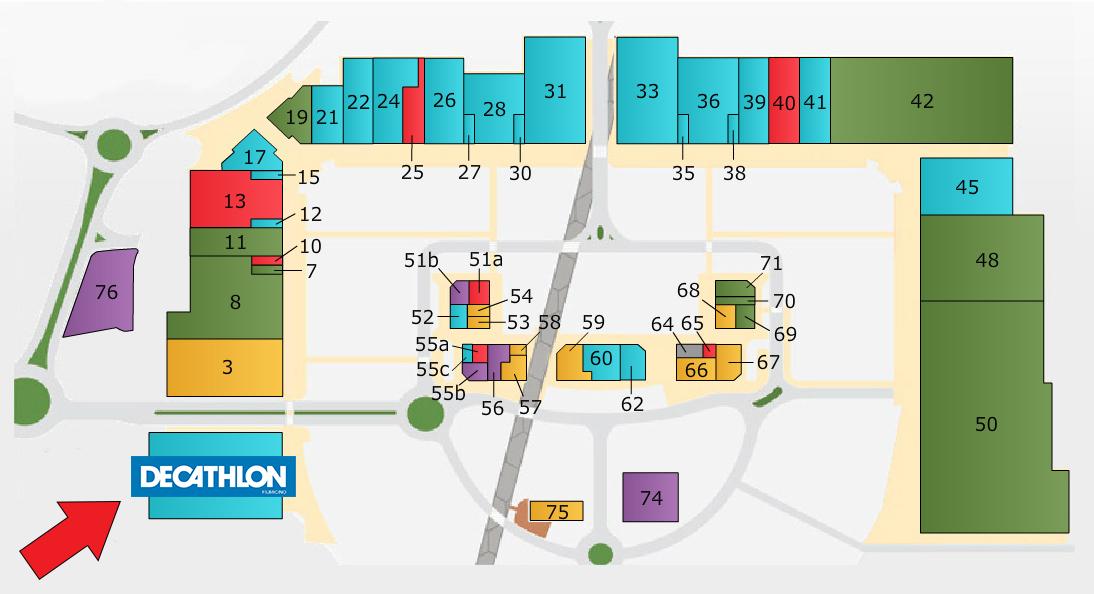 Mappa Decathlon