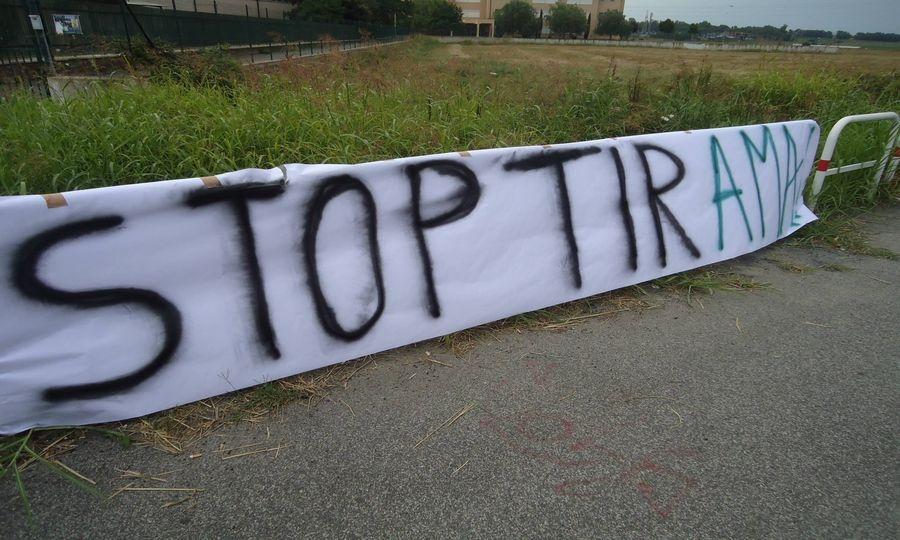 """Stop tir a Maccarese"", il presidio"