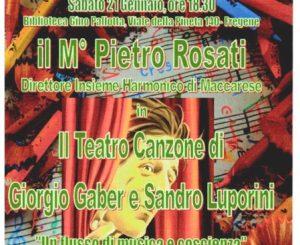 Ai Colori della Musica il teatro canzone di Gaber-Luporini