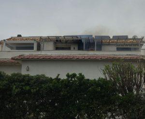 Incendio in un appartamento di Focene