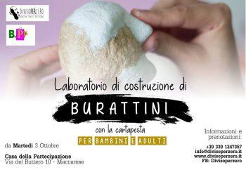 Burattini in cartapesta, laboratorio a Maccarese dal 3 ottobre
