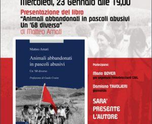 """Presentazione libro """"Animali abbandonati in pascoli abusivi"""" il 23"""