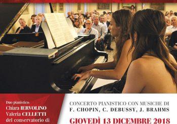 Castello San Giorgio, concerto pianistico il 13 dicembre