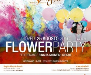 Flower Party il 25 agosto al Singita