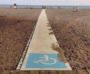 Uno scivolo al Villaggio dei Pescatori per i disabili
