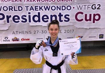 Taekwondo, Sofia bronzo alla President Cup