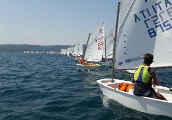 La regata optimist a Bracciano del circolo Planet Sail