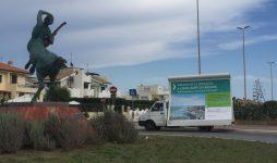 Salviamo la spiaggia di Fregene, ieri camion vela su lungomare