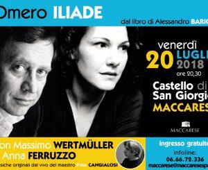 """""""Omero Iliade"""" al Castello San Giorgio il 20 luglio"""
