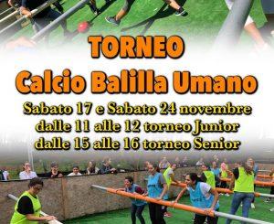 Parco Avventura, torneo Balillone il 24 novembre