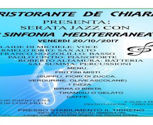 """Sinfonia mediterranea"" da De Chiara il 20 ottobre"
