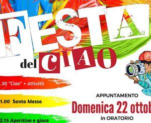 """Oratorio, grande """"Festa del Ciao"""" il 22 ottobre"""