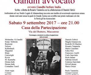 """""""Gandhi avvocato"""", alla Casa della Partecipazione il 9 settembre"""