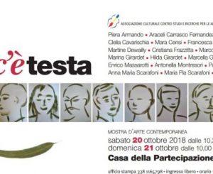 """20-21 ottobre, mostra arte contemporanea """"Dove c'è la testa"""""""