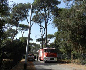 Via Portovenere, strada chiusa per ramo pericolante