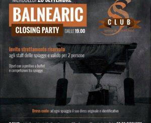 "Stasera ""Balnearic closing Party"" all'Sclub"