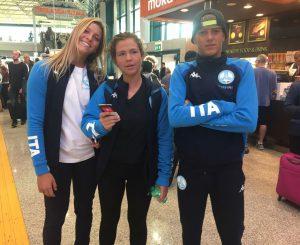 Mondiali surf, la partenza di Mauro, Onda ed Emma