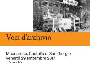 """""""Voci d'archivio"""", il 29 settembre al Castello San Giorgio"""