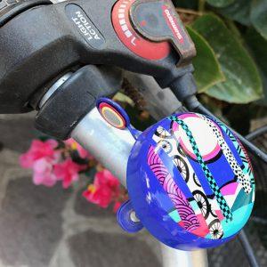 campanello bici azzurra