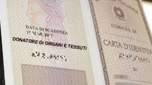 carta identità donazione ok