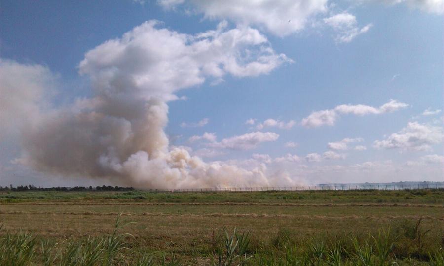 Aeroporto, fiamme vicino alle piste