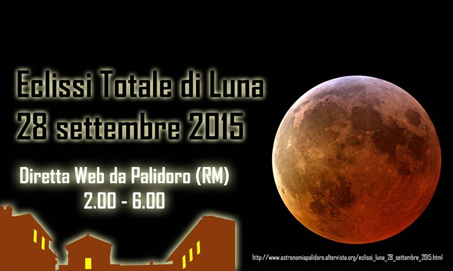 L'eclissi di luna in diretta da Palidoro