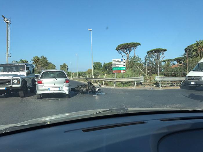 incidente moto Maccarese