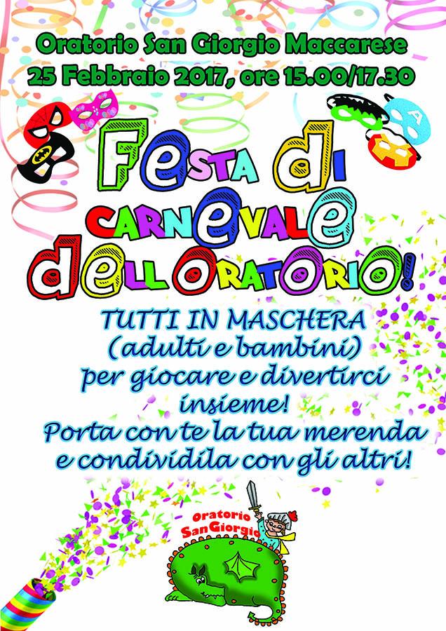 locandina carnevale oratorio Maccarese 2