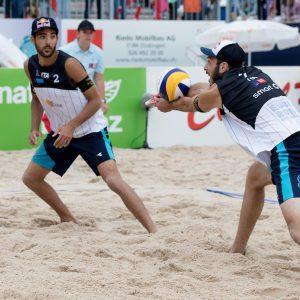 05.06.2016; Biel/Bienne; Beach Volley Uomini  Daniele Lupo e Paolo Nicolai campioni d'Europa  Foto Claude Diderich/freshfocus/Insidefoto