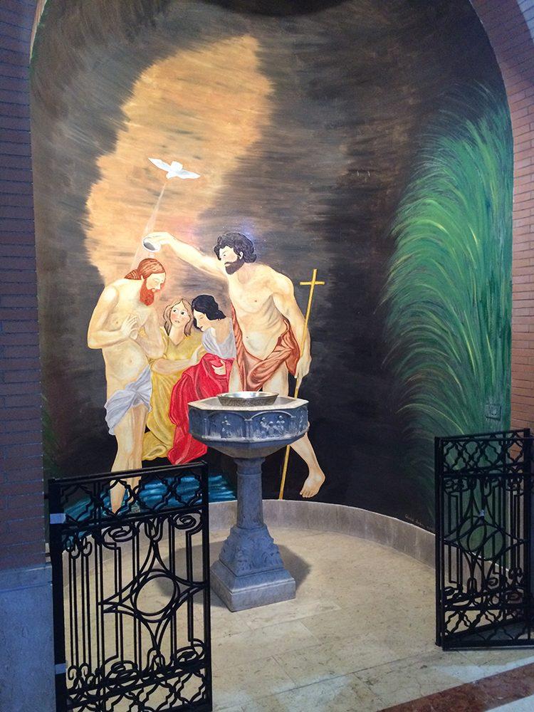 nicchia fonte battesimale2