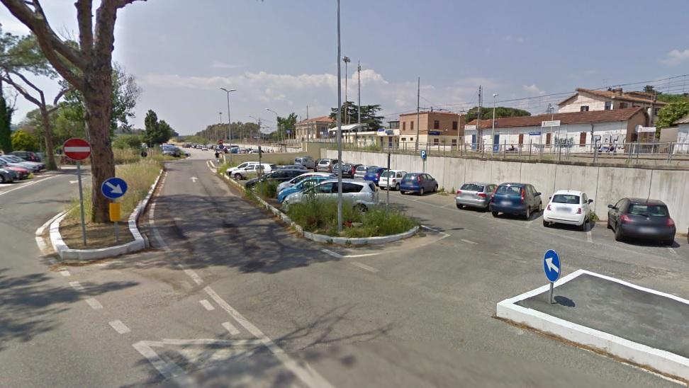 parcheggio stazione palidoro