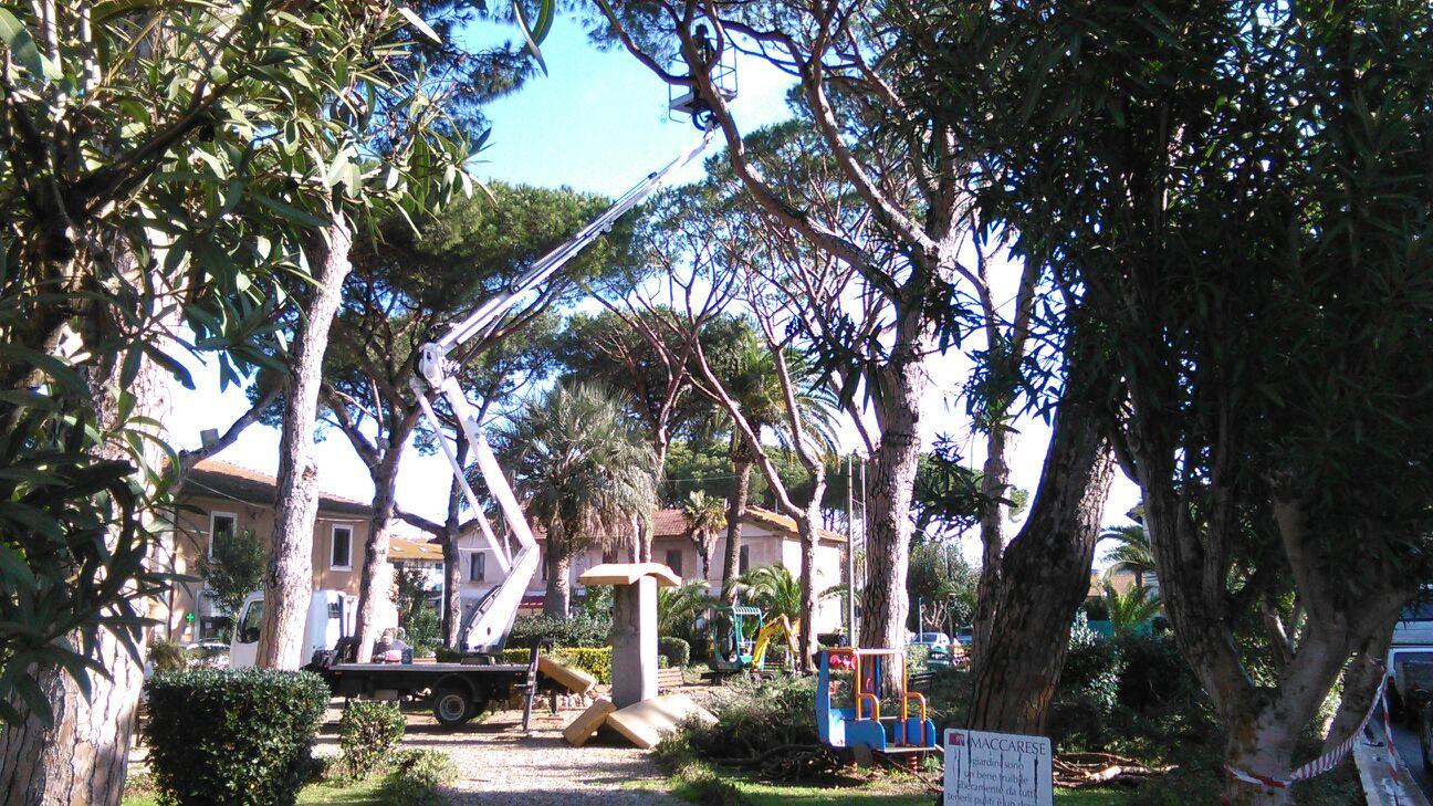 piazza Maccarese pulizia