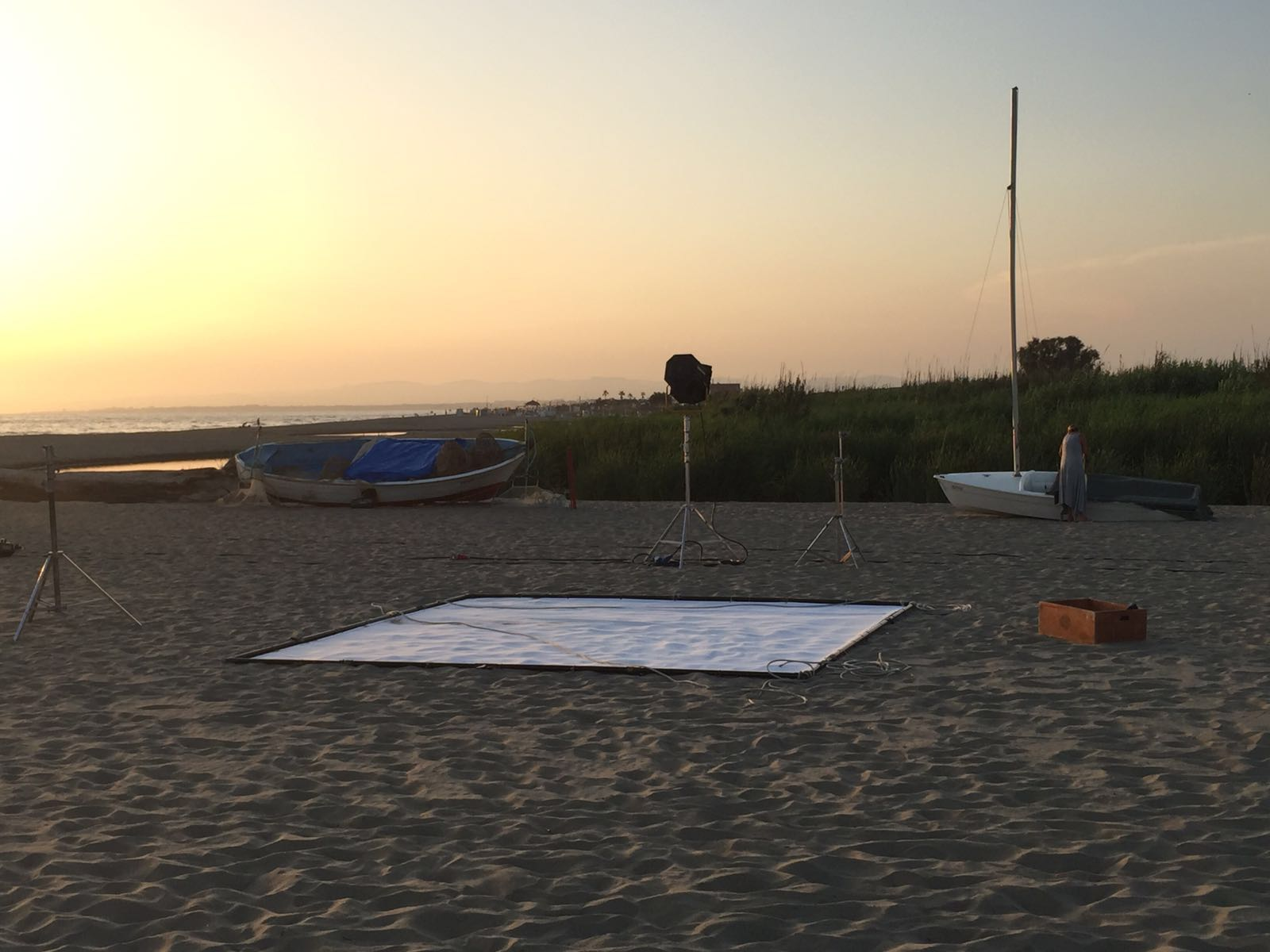 riprese film tramonto